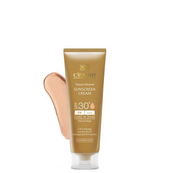 کرم ضد آفتاب رنگی +SPF30 بژ طبیعی سینره