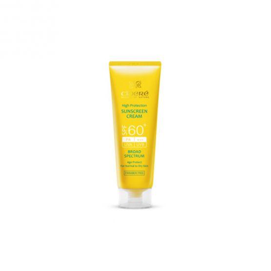 کرم ضد آفتاب +SPF60 بدون رنگ مناسب پوست های معمولی تا خشک  سینره