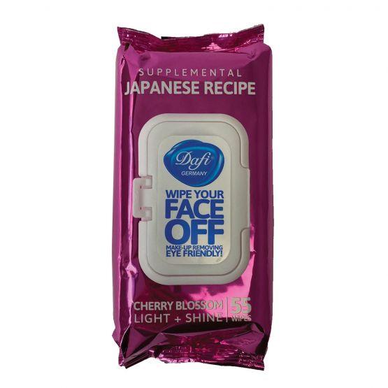 دستمال مرطوب پاک کننده آرایش فیس آف ژاپنی دافی حاوی عصاره شکوفه گیلاس