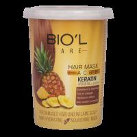 ماسک مو تغذیه کننده و محافظت کننده با عصاره آناناس مخصوص موهای آسیب دیده بیول