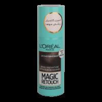 اسپری کانسیلر ریشه مو لورال مدل Magic Retouch قهوه ای خیلی تیره