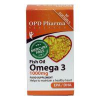 کپسول ژلاتینی امگا 3 روغن ماهی 1000 mg او پی دی فارما