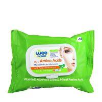 دستمال مرطوب پاک کننده آرایش غنی شده با آمینو اسید وی کر