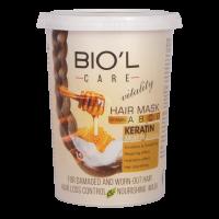 ماسک مو تغذیه کننده و آبرسان بیول حاوی عصاره شیر و عسل حجم 500 میل