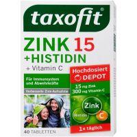 قرص زینک 15 پلاس هیستیدین پلاس ویتامین ث تاکسوفیت