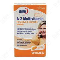 قرص A Z مولتی ویتامین بالای 50 سال بانوان یورو ویتال