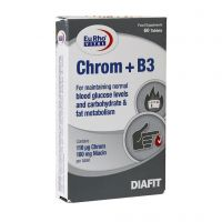 قرص کروم + ویتامین B3 یورو ویتال