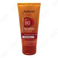 کرم ضد آفتاب پوست های معمولی و خشک بژ روشن SPF 90 آردن